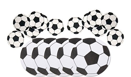 Nikki's Knick Knacks Soccer Foam Shapes and Stickers- 65 Pieces