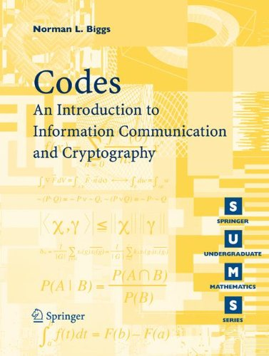 Codes: An Introduction to Information Communication and Cryptography (Springer Undergraduate Mathematics Series) [Biggs, Norman L.] (Tapa Blanda)