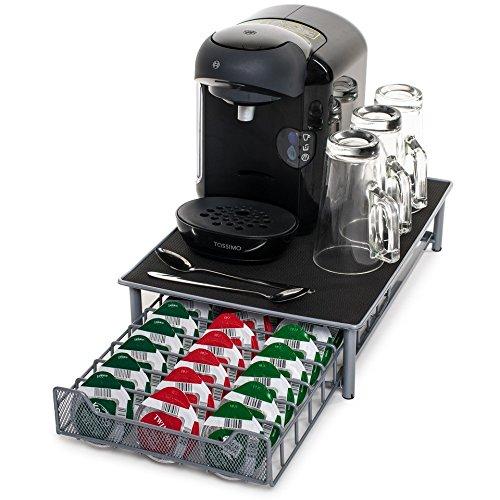 Soporte para cápsulas de café de Tassimo, de la marca Home Treats. Soporte para 60 cápsulas apilables. Superficie antivibración y antideslizamiento, ...