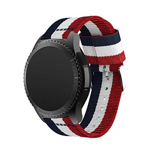 Price comparison product image For Samsung Gear S3 ,Creazy Fine Woven Nylon Replacement Band Sport Strap for Samsung Gear S3 (b)