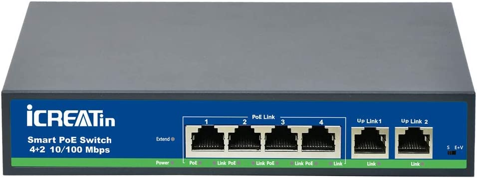 Powered by Micro USB Port 2-in-1 5 Port Gigabit Ethernet POE Switch 10//100Mbps for for Wireless LAN Access IP