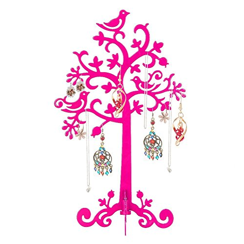 YOEEKU Leichtmetall Schmuckständer Schmuckhalter Ohrringhalter Armbandständer Ohrring Baum Für Ring Earring Necklace Bracelet (Rosa)