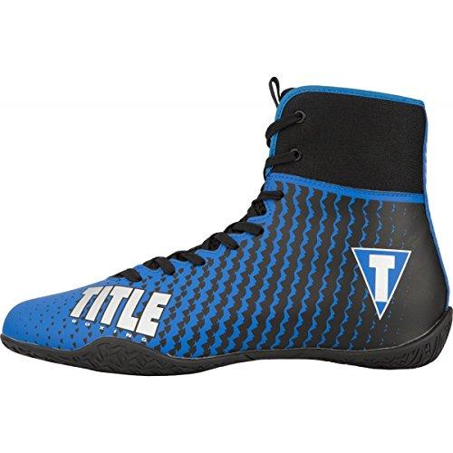 Title Predator II Boxing Shoes, Blue/Black, 10.5