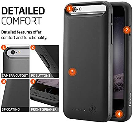 Amazon.com: iPhone 6 Funda Cargador de batería Caso, Spigen ...