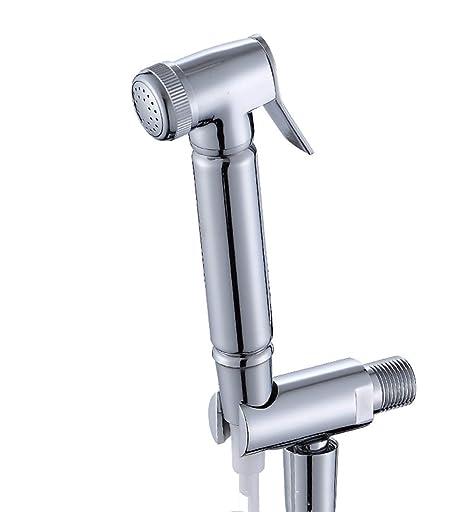 Toilet Handheld Stainless Steel Bidet Spray Shower Sprayer Douche kit Hose Holde