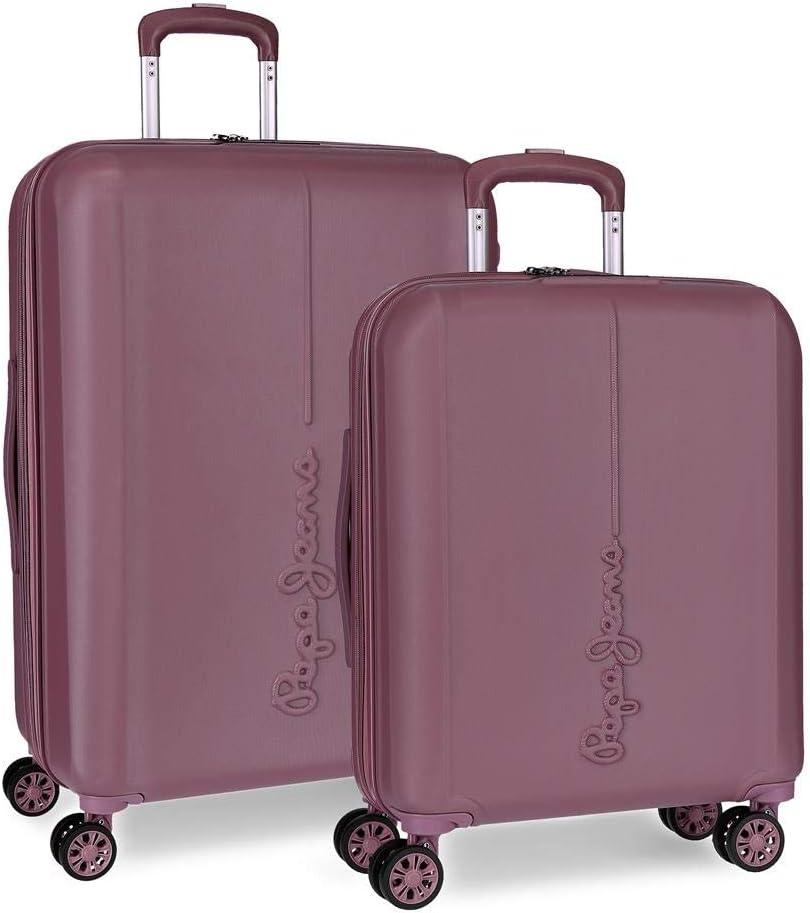 Juego de maletas Pepe Jeans Glasgow Burdeos rígidas 55-70cm