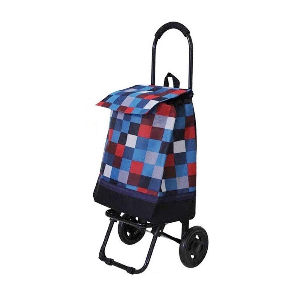 WENYAO Climbing vehicle, old man handcart, folding, light car, carriage, large household basketball, small car, 85  29  23cm