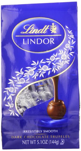 Lindt LINDOR Dark Chocolate Truffles ,5.1 Ounce