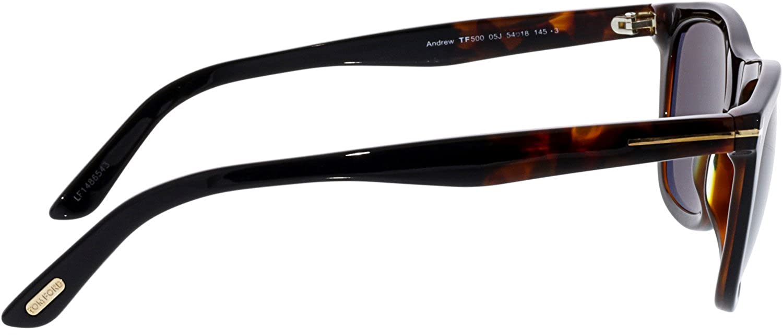 80554bde846 Amazon.com  Tom Ford FT0500 05J Black Dark Havana Andrew Square Sunglasses  Lens Category 3  Tom Ford  Clothing