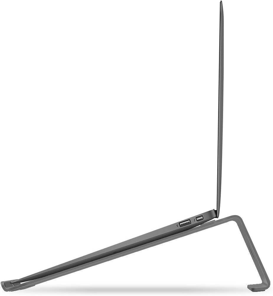LENTION Aluminum Laptop Stand Compatible with MacBook Air/Pro 13 15, iPad Pro 12.9, Surface, Chromebook and 11 to 15-inch Laptops/Notebooks (Space Gray)