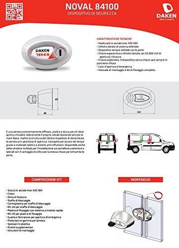 Serrure antivol Daken NOVAL Triple pour v/éhicules utilitaires
