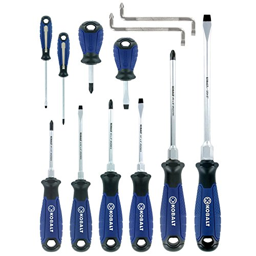 12 Piece Screw (Kobalt 12-Piece Variety Pack Screwdriver Set)