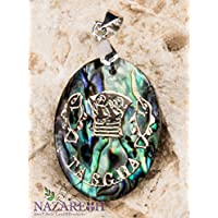 Jesus Fish Tabgha Pearl Shell Pendant Abalone Shell Handmade Amulet Holy Land