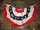 3×6 ft Double Sided SEWN Commercial Fan US USA American Nylon 2ply Flag Bunting