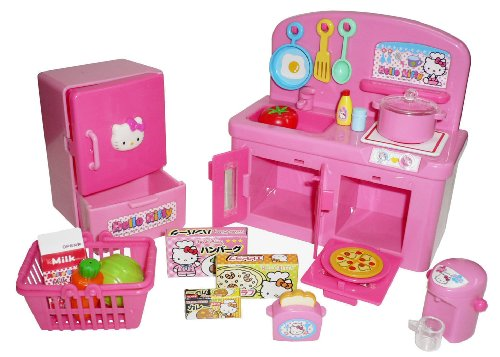 hello kitty kitchen play set miniature toy preschool girl role play buy online in uae toys. Black Bedroom Furniture Sets. Home Design Ideas
