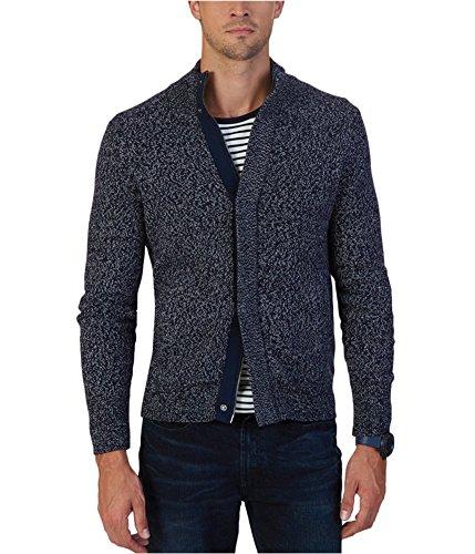 Nautica Men's Concealed Zip Sweater, True Navy, L by Nautica