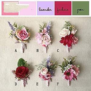 Wedding Flower DIY Goom Boutonniere Buttonholes Bride Wrist Corsage Bracelet Hand Flower Man Suit Prom Party Decoration 70