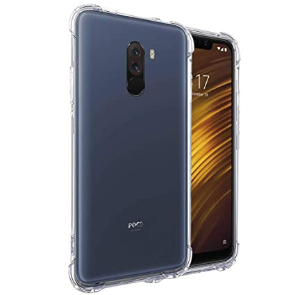 watch 4cb8a 70560 Tarkan Shock Proof Protective Back Cover for Xiaomi Pocofone 1 / Poco F1  (Transparent)