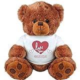 Love You Angelique Valentines Gift: Medium Plush Teddy Bear