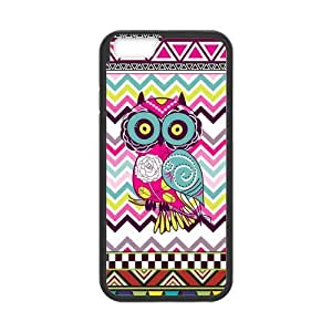 iPhone 6 Protective Case - Colorful Aztec Owl Hardshell Cell Phone Cover Case for New iPhone 6 by mcsharks