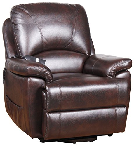 Serta Perfect Lift Chair Recliner-Plush Comfort Recliner with Gel-Infused Foam -Hand Control with 2 Large LED Buttons and USB Charging Port for Phones/Tablets(Java 882)..., Mystic-Java-882