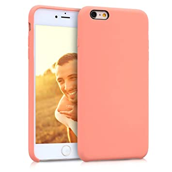 kwmobile Funda compatible con Apple iPhone 6 Plus / 6S Plus - Carcasa de [TPU] para móvil - Cover [trasero] en [coral]
