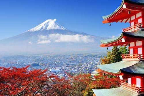 日本ではフジマウント 風景の写真 キャンバス印刷アートポスター(40cmx60cm)