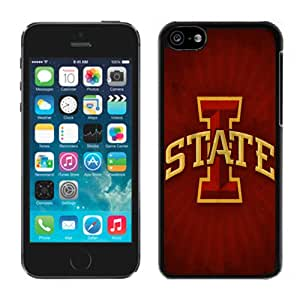 NEW Personalized Customized Iphone 5c Case with NCAA Big 12 Conference Big12 Football Iowa State Cyclones 3 Protective Cell Phone Hardshell Cover Case for Iphone 5c Black