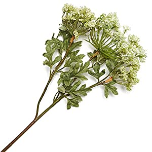 Factory Direct Craft White Artificial Queen Anne's Lace Floral Sprays for Inside Decor - 2 Sprays 109