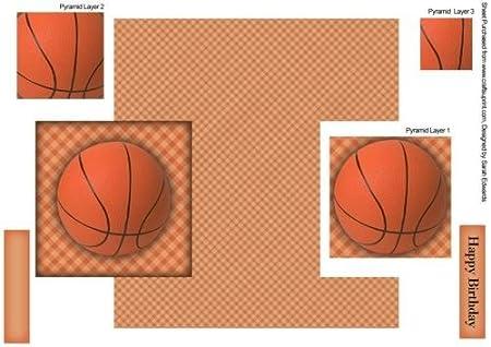 Tarjeta de nave de pelota de baloncesto, hoja 2 por Sarah Edwards ...