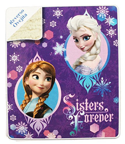Disney's Frozen Microvelvet Sherpa Throw Blanket
