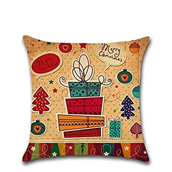 Amazon.com: TreeMart Pillow Case Merry Christmas Pillow ...