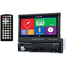 """POWER ACOUSTIK PDN-726B 7"""" Single-DIN In-Dash GPS Navigation Motorized LCD Touchscreen DVD Receiver with Bluetooth(R)"""