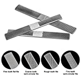 Wood Rasp with Premium Grade High Carbon Hand File and Round Rasp, Half Round Flat & Needle Files. Best Wood Rasp Set for Sharping Wood and Metal Tools (Wood Rasp)