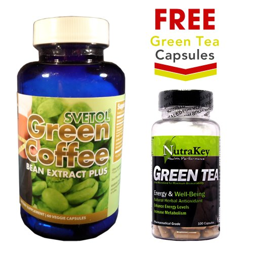Svetol Green Coffee Bean Extract Plus + FREE Green Tea Extract Capsules