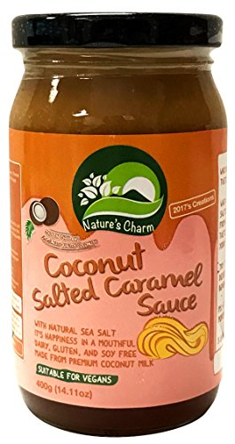(Nature's Charm Coconut Sauce Vegan and Gluten Free (Salted Caramel))