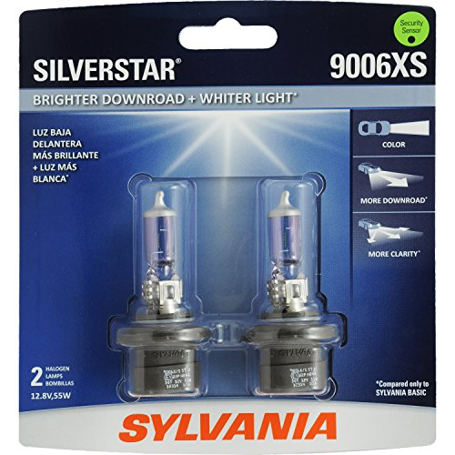 SYLVANIA 9006XS SilverStar High Performance Halogen Headlight Bulb, (Contains 2 Bulbs)