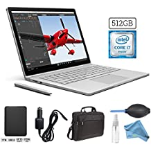 Microsoft Surface Book (512GB, 16GB RAM, Intel Core i7) + 1TB Portable External Hard Drive USB 3.0 + 15.6-Inch Microsoft Surface Carrying Case + 3 in 1 Cleaning Kit + Car Charger Adapter PRO Bundle