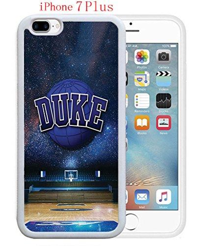 iPhone 7 Plus Case,Duke Basketball Stars Blue Devils Drop Protection Never Fade Anti Slip Scratchproof Soft Rubber TPU White Case 5.5 inch