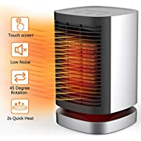Ailuki Portable Space Heater 950W with Oscillating Function,Indoor Desk Personal Heater with Tip-Over and Overheating Protection,PTC Electric 2s Heat-up Heater Perfect for Home and Office(UL listed)