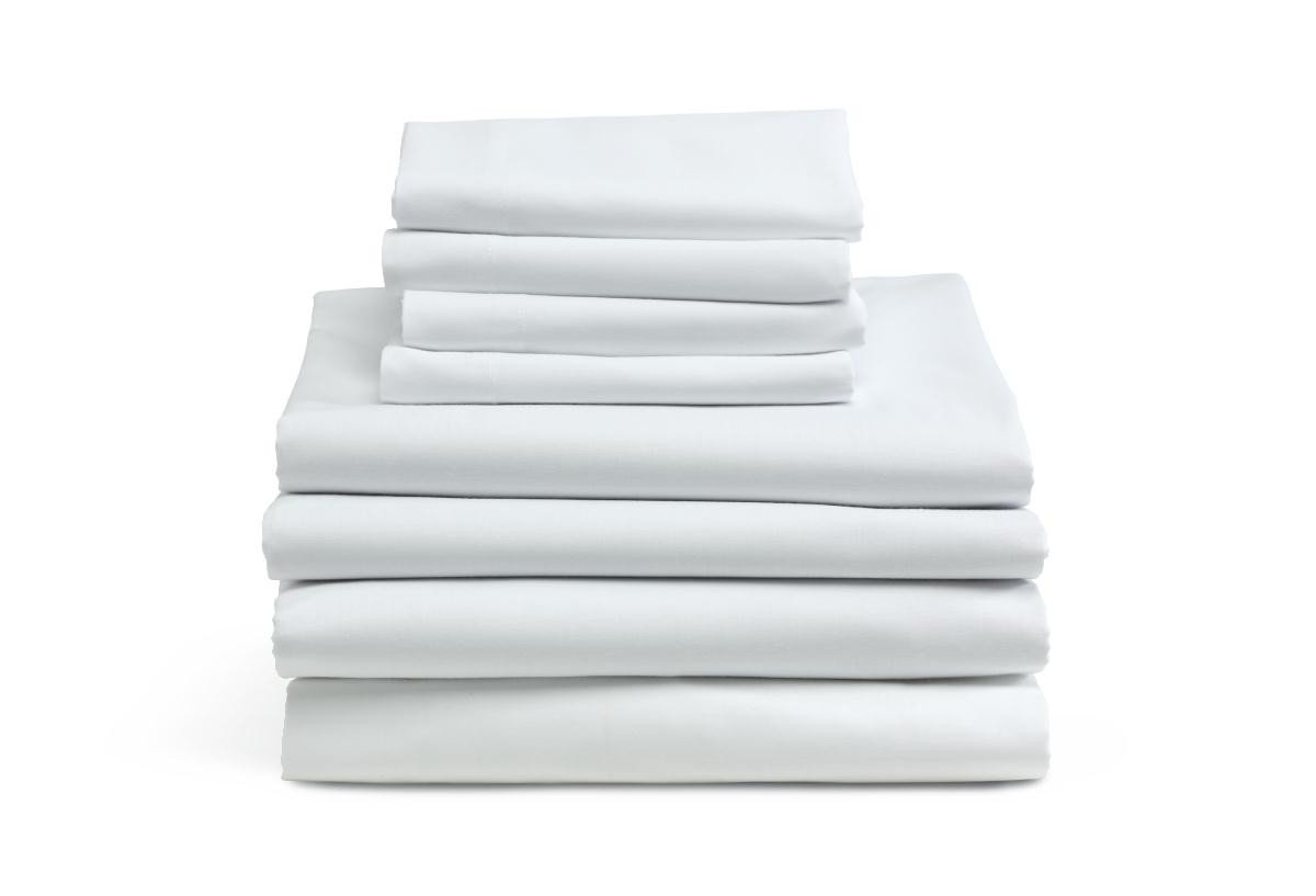 MIMAATEX 6 Pack-Hotel/SPA/Massage-Twin Flat/top Sheet-Bright White-180 Thread Count MHF