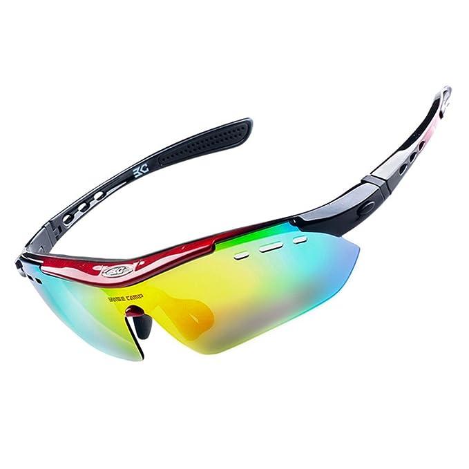 vitalite-basecamp Sport Sonnenbrille Radfahren Brille 6auswechselbare Objektiv schwarz schwarz eV7ArTZ7a