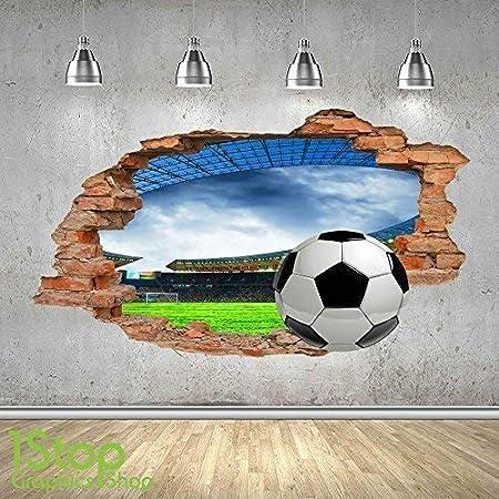 7e1f329d FOOTBALL STADIUM WALL STICKER 3D LOOK - BOYS KIDS BEDROOM WALL DECAL Z452  Size: Large