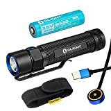 Bundle: Olight S2R Baton Cree XM-L2 LED 1020 Lumens Rechargeable Flashlight With 3200mAh 18650 Rechargeable Battery and Skyben Holster (S2R)