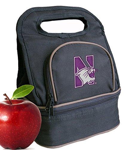 Broad Bay Northwestern University Lunch Bag Northwestern Wildcats Lunch Box - 2 Sections! (Northwestern Lunch Wildcats)