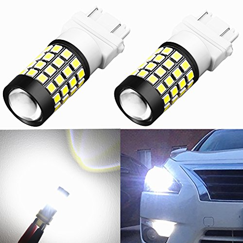 Alla Lighting 1000 Lumens 51-SMD Extremely Super Bright 6000K Xenon White 4157NA 3457K 3057 3056 T25 3157 3156 LED Bulbs High Power 2835 Chipsets LED Lights Lamps