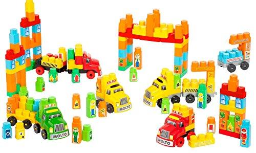 MOLTO – Set de construcción con 6 Camiones, 200 Piezas (16480)