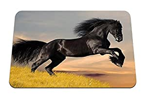 "black horse HD - Gaming Mouse Pad - 8.6""x7.1"" inches"