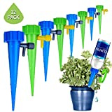 Xndryan Automatic Watering Device, 12 Pack Flower Pot Self Watering System for Plants, Slow Release Drip Irrigation Vacation Plant Watering Spikes for Outdoor & Indoor Use