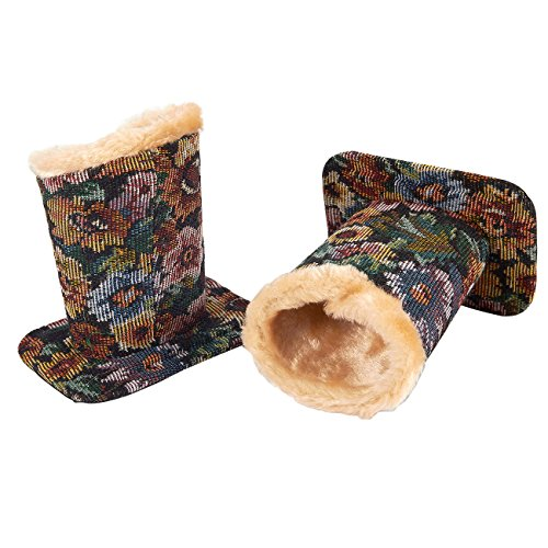 Pack of 2 Eyeglass Holders - Eyeglass Stands with Soft Plush Lining - Eyeglass Holder Stands, 4.5 x 4.7 x 3.2 Inches, Floral (Gift Tapestry Christmas Stocking)